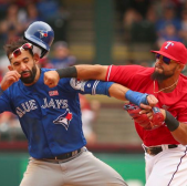 The Texas Rangers And Toronto Blue Jays Brawl Based On Unwritten Rules